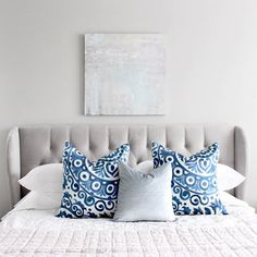 When you find the perfect pillows for your client's bedroom💙💙 @potterybarn #interiordesign #designedbyafp #masterbedroom #bed #bedding #myOKLstyle #potterybarn