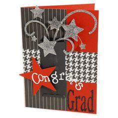 graduation card like the idea making in school colors