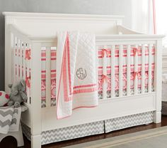 I like this crib a lot, I do not like the price. It does come in grey or white which is awesome. I love the bright color scheme happening in this picture too.