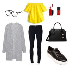 """Casual Day"" by ana-sofia-saucedo on Polyvore featuring moda, Steve Madden, Michael Kors, Frame Denim, Acne Studios, J.Crew, Ray-Ban y MAC Cosmetics"