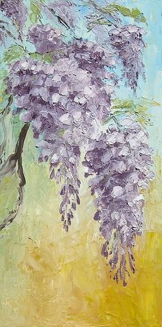 I would love to have this in so many ways! A pallet knife painting of wisteria.