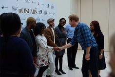 The Prince was a hit with staff and supporters at the engagement.