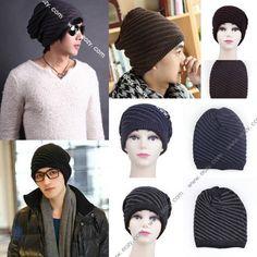 Classic Fashion Joker Men Women Winter Warm Knitted Twill Pullover Hat Head Cap #EOZY