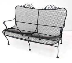 For Auction: RUSSELL WOODARD Love Seat. Mesh seat and back with Ivy (#1066) on Dec 11, 2019 | Uniques & Antiques, Inc. in PA Vintage Outdoor Furniture, Vintage Patio, Outdoor Chairs, Outdoor Decor, Ivy, Love Seat, Auction, Mesh, Antiques