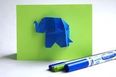 Je taime GROS comme un éléphant! Elephant Bleu, Elephant Theme, First Love, Greeting Cards, Love You, Blue, Plush, Origami Elephant, Cute Elephant
