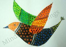 Exploring India Folk and Tribal Art: Gond Painting step by step via @artsycraftsymom