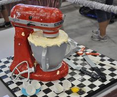 So Real looking!!  Kitchen Aid mixer cake.
