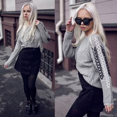 Get this look: http://lb.nu/look/7934400  More looks by Oksana Orehhova: http://lb.nu/oksiger  Items in this look:  Sammydress Sweater, Sammydress Skirt   #casual #minimal #street