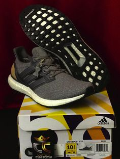 d5abc284d9f12 NEW Adidas Ultra Boost 3 0 Grey Leather Cage BB1092 in US Men Size 10 5