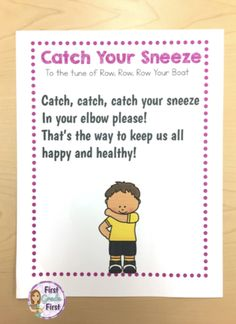 Teachers, looking for activities to teach your kids healthy habits to fight germs? Check out these songs, posters, and worksheets! Perfect for prescho Kindergarten Songs, Preschool Songs, Kids Songs, Kindergarten Classroom, Beginning Of The School Year, First Day Of School, Healthy Habits For Kids, Thats The Way, Elementary Teacher