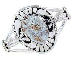 Eugene Balone Navajo Dry Creek Turquoise Sterling Silver Cuff Bracelet BW65231 SilverTribe. $249.99