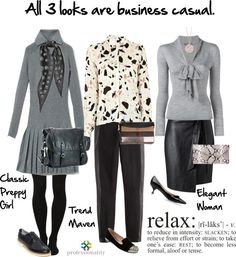 Business casual doesn't mean khakis and a button down (unless that's your company's uniform) and it doesn't mean jeans and a t-shirt (of course, some companies encourage that). Business casual simply...