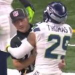 Seahawks Safety Earl Thomas Penalized for Hugging Ref