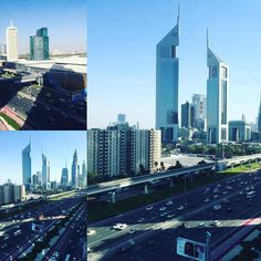 The hustle bustle of Sheikh Zayed Road.