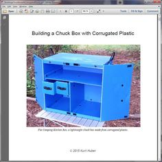 Instructions for Building a Chuck Box with by CampingKitchenBox