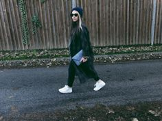 thisissannita.blogspot.com - An oversized tailored boyfriend coat paired with some Nikes are an effortless way to look comfortable and stylish.
