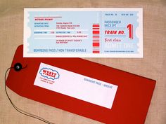 ticket as invitation for train party