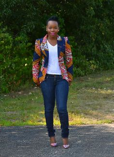 African Print Maxine Blazer Detaches at the waist from by Jaalyi African Inspired Fashion, African Print Fashion, Africa Fashion, African Fashion Dresses, Fashion Prints, Fashion Design, African Prints, Unique Fashion, Fashion Styles