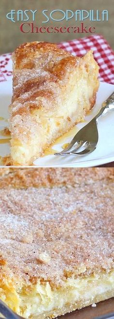 Easy Sopapilla Cheesecake 2 packs of Pillsbury crescent rolls 2 packs of cream cheese, room temperature 1 cup sugar 1 teaspoon vanilla cup butter (melted) 1 tablespoon tablespoons sugar* honey Brownie Desserts, Oreo Dessert, Köstliche Desserts, Dessert Recipes, Dinner Dessert, Recipes Dinner, Drink Recipes, Easy Cheesecake Recipes, Cookie Recipes