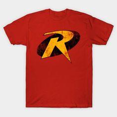 Robin T-Shirt - DC Comics T-Shirt is $13 today at TeePublic! Dc Comics T Shirts, Robin Dc, V Neck T Shirt, Graphic Tees, Batman Stuff, Mens Tops, Curvy, Classic, Fit