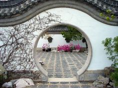 A Chinese stroll garden also unfolds along winding paths and even though there is a homogenous composition, isolated scenes confront the visitor as he . Garden Archway, Diy Garden Fence, Terrace Garden, Garden Gates, Garden Beds, Garden Art, Garden Design, Montreal Botanical Garden, Moon Gate