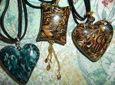 Puffy pendants made by Lori Von der Puetten