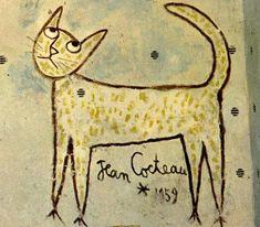 Le chat de Jean COCTEAU .....