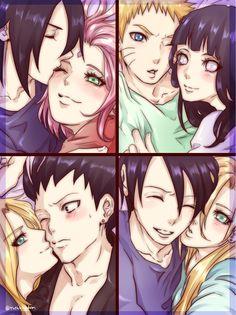 Pixiv Id 2836060, NARUTO, Temari (NARUTO), Uchiha Sasuke, Yamanaka Ino, Uzumaki Naruto