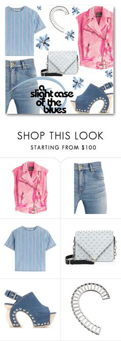 """Dreaming of Denim"" by looking-for-a-place-to-happen ❤ liked on Polyvore featuring Roberto Cavalli, T By Alexander Wang, Alexander Wang, Alexander McQueen and Yael Salomon"