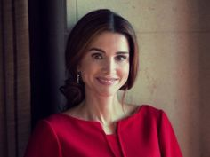 """""""Queen Rania of Jordan's 2014 Official Portrait """" Jordans 2014, King Abdullah, Queen Rania, Royal Queen, Her Majesty The Queen, The Beautiful Country, Royalty, Classy, V Neck"""
