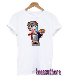 Harley Quinn lady/'s tunic damen top shirt loose fit t-shirt