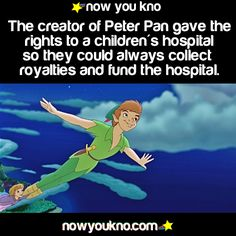 So great. Peter Pan helping fund a children's hospital