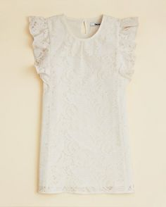 This DKNY Lace Dress is an elegant design for your little darling