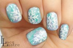 LacqLustre: Water Color Snow Flake Nail Art