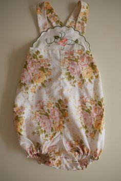 Really cute, vintage fabric... handkerchief top?