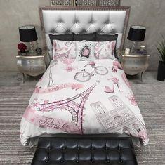 Whimsy in paris eiffel tower duvet bedding sets Paris Room Decor, Paris Rooms, Paris Bedroom, Plywood Furniture, Design Furniture, Refurbishing Furniture, Paris Bedding, Duvet Bedding Sets, Dorm Bedding