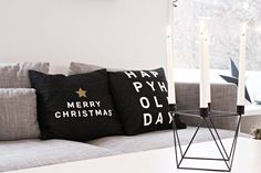 Scandinavian, minimalistic Christmas pillows from People of Tomorrow