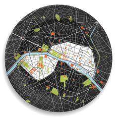 Paris City Plate.  I found this on www.vertigohome.us $50.00