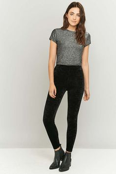 online retailer 7f7d3 bc7e6 UrbanOutfitters.com  Awesome stuff for you  amp  your space Black Velvet  Leggings,