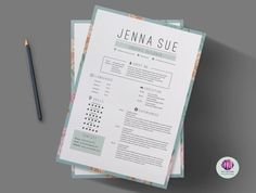 Vintage CV template cover letter template by ChicTemplates
