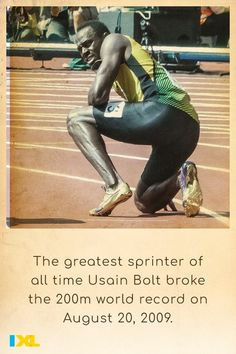 Blink and you'll miss him! Jamaican sprinter Usain Bolt set the 200m world record 11 years ago today with a time of 19.19 seconds. #OnThisDay #TBT Ixl Math, Learning Sites, Usain Bolt, 200m, World Records, Throwback Thursday, Change The World, Social Studies, Language Arts