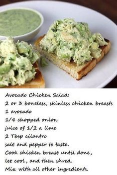 🍴 is part of Metabolic diet recipes - Avocado Chicken Salad! Fast Metabolism Recipes, Fast Metabolism Diet, Metabolic Diet, Eating Raw, Clean Eating Snacks, Healthy Eating, Healthy Chicken Recipes, Diet Recipes, Bariatric Recipes