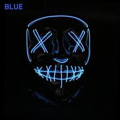 - best accessories of 2019 Light Up Face Mask, Led Light Mask, Creepy Masks, Halloween Rave, Finger Lights, Xmas Stockings, Light Beam, Mask Party, Party Lights
