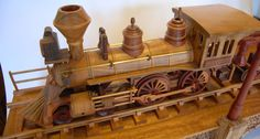 Gary Johnson's handmade wood train  train!