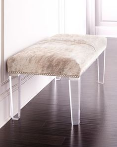 Brindle+Hairhide+Bench+by+Massoud+at+Horchow.