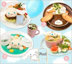 #Cinnamoroll food -- ready to serve in Dec 2015, The Guest Café and Diner, Japan (*^◯^*) 渋谷パルコに「シナモロールカフェ」が期間限定オープン!   ニュース・イベント   サンリオ