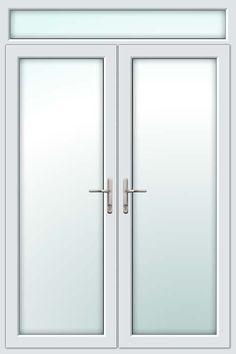French Doors with toplite, when a door measures over 2.2 meters it is always advisable to put a toplit above the door.