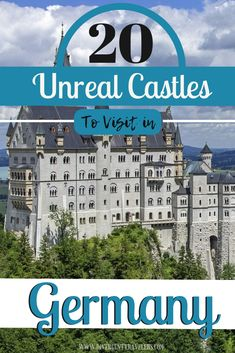 20 unreal Castles to visit in Germany - Our list of 20 best castles in Germany is sure to spark your imagination and perhaps transport you to what it would be like to live in these storybook within Europe Travel Tips, Travel Guides, Places To Travel, Travel Destinations, Travel Abroad, Travel Advice, European Vacation, European Destination, European Travel