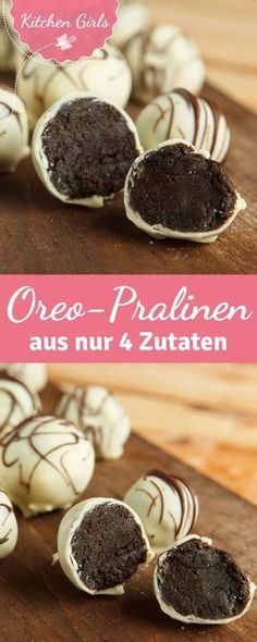 Once you've eaten these chocolates with Oreo cookies you'll never want others again. From just four ingredients you can easily do it yourself. The post Fast Oreo chocolates appeared first on Win Dessert. Chocolate Maltado, Chocolate Recipes, Chocolate Covered, Chocolate Coating, Chocolate Truffles, Easy Cookie Recipes, Cake Recipes, Dessert Recipes, Dinner Recipes