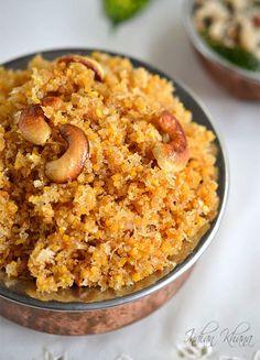 Panchakajjaya - A popular Kannada dessert made of 5 ingredients - lentils, jaggery, coconut, ghee and cashew nuts Veg Recipes, Sweets Recipes, Baby Food Recipes, Vegetarian Recipes, Snack Recipes, Cooking Recipes, Cooking Beef, Vegetarian Cooking, Kitchen Recipes